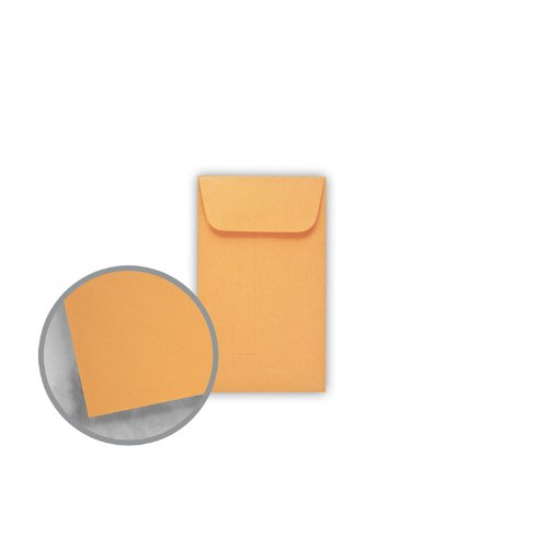 Printmaster Brown Kraft Envelopes - No. 3 Coin (2 1/2 x 4 1/4) 28 lb Writing 500 per Box by National Envelope Printmaster