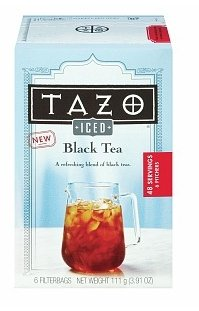 Tazo Iced Black Tea, 6 Filterbags x 3 (6 Pitchers 48 Servings x 3 / 18 Filterbags Total)