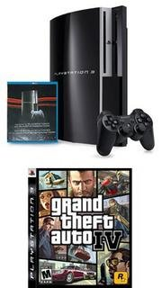PlayStation 3 40GB w/ Bonus Grand Theft Auto IV (PS3) and Playstation Network Blue-Ray Disc