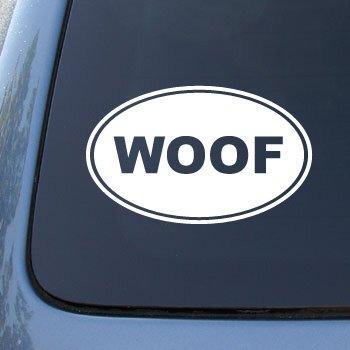 WOOF - Dog - Vinyl Car Decal Sticker #1570 | Vinyl Color: White