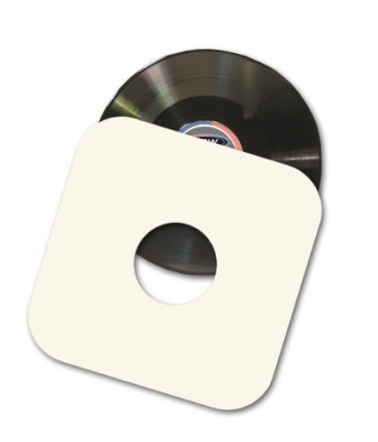 """50 12"""" LP / Album White Paper Vinyl Record Sleeves / Protectors - Heavy 20# Weight Paper With Hole For Viewing Label -"""
