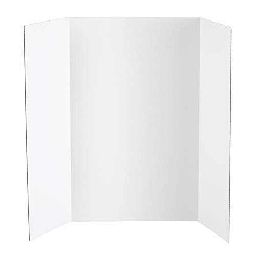 Darice Display Board, Corrugated Cardboard, White, 36 x 48 inches