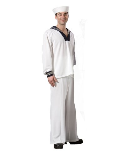 Men's US Navy Sailor Theater Costume, Large