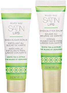 Mary Kay Satin Lips Set - Shea Sugar Scrub and Shea Butter Balm 3 oz. NET / 8 g by Mary Kay