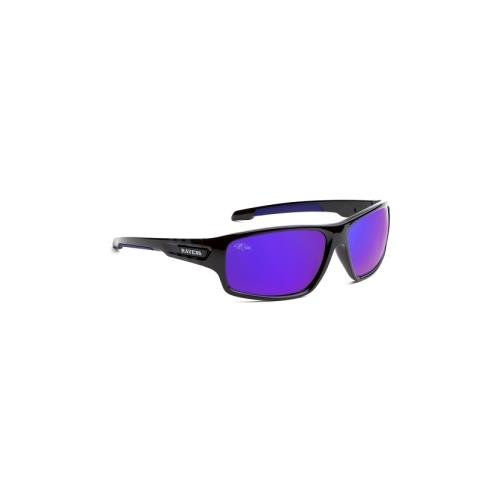 Officially Licensed NFL Sunglasses, Baltimore Ravens, 3D Logo on Temple - 100% UVA, UVB & UVC - Sunglasses Baltimore Ravens
