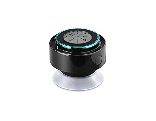 [Waterproof Bluetooth Speaker] Wyber(TM) - IPX7 - Portable Wireless Bluetooth 3.0 Shower  Outdoor Speaker - High Quality Sound with Bass Enhanced Audio Hands-free Calling with Built-in Mic Easy to Use Controls Removable Suction Cup Up to 6 Hrs Pla...
