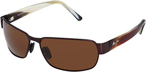Maui Jim Black Coral H249-19M Polarized Rectangular Sunglasses,Matte Espresso Frame/HCL Bronze Lens,One - Coral Sunglasses