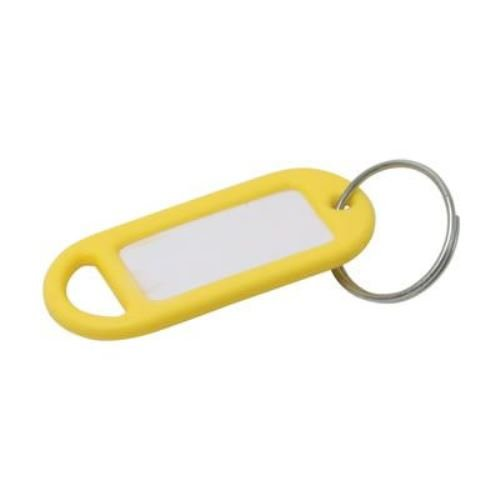 Bulk Hardware BH02564 Key Ring Plastic Tag - Yellow, Pack of 20