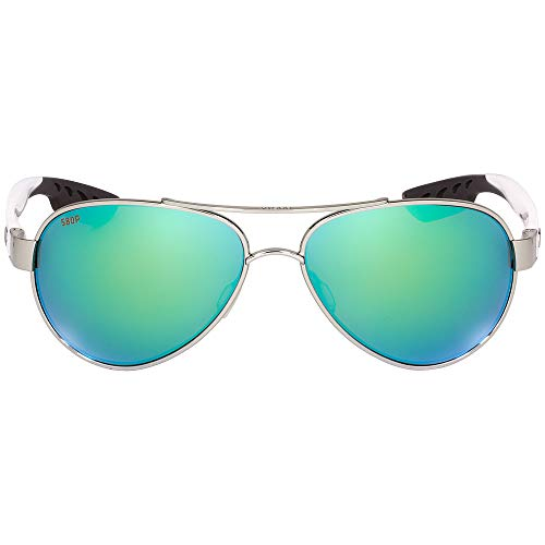 - Costa Del Mar Loreto Sunglasses, Palladium, Green Mirror 580P Lens