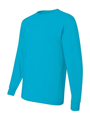 Jerzees Men's Heavyweight Blend 50/50 Long Sleeve T-Shirt (California Blue, -