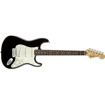 fender standard stratocaster electric guitar maple fingerboard black musical. Black Bedroom Furniture Sets. Home Design Ideas