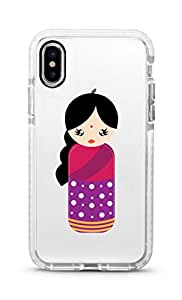 Stylizedd apple iPhone XS/X Cover Impact Pro White Military Grade Dual Layer Case - Indian Doll