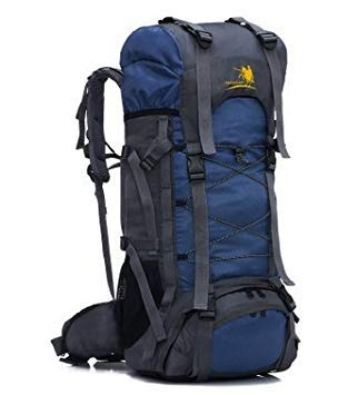 Free Knight 60L Internal Frame Backpack Hiking Travel Backpack Camping Rucksack 60L Extra Large (Navy Blue)