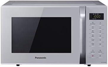 Panasonic NN-K36HMMEBG Forno a Microonde Combinato con Grill, 11 Programmi Automatici, Quick Start 30 Secondi, Sicurezza Bambini, 800 W, 23 Litri, 63 Decibel, Acciaio, 5 velocità, Silver