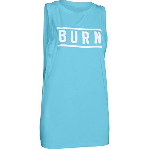 UA Studio sin mangas–Burn–Studio Graphic–Camiseta para mujer azul, plateado, blanco, (Sky Blue / White / Silver)