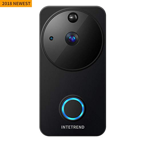 Smart Video Doorbell Wireless, Intetrend WiFi Doorbell Camera with PIR Motion Detection, 720P HD Home Security Camera with Two-Way Audio & Night Vision, Battery Powered, Real-Time Remote APP Control