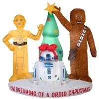 Star Wars Driods and Chewbacca Holiday Inflatable