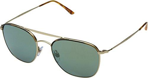 Giorgio Armani  Men's 0AR6058J Yellow Havana/Matte Pale Gold/Mirror Green - Sunglasses Gold Armani