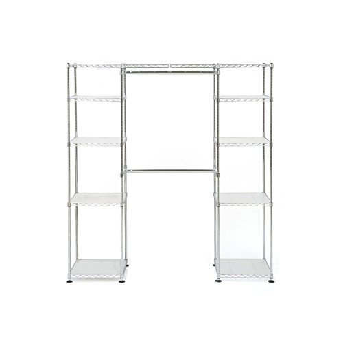 Closet Organizer 12 Total Shelves with Adjustable Height and