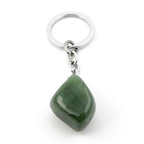 Nephrite Jade Nugget Keychain.