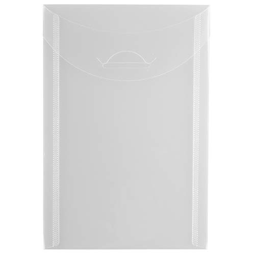 - JAM PAPER Plastic Envelopes with Tuck Flap Closure - Open End 4 1/8 x 6 - Clear - 12/Pack