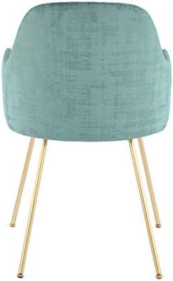 One Couture Chaise de Salon Salle à Manger Matériau : Tissu Velours 100% Polyester, Mousse, Fer, Bois de pin, env. 54 cm (L) x 51 cm (l) x 85 cm (H)
