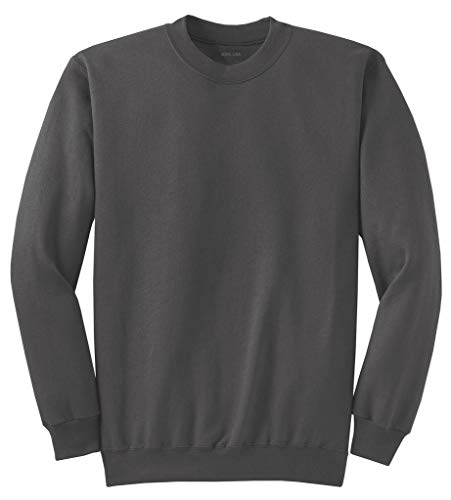 Joe's USA Tall Men's Pullover Fleece Sweatshirt Charcoal.-2XLT.2X-Large Tall