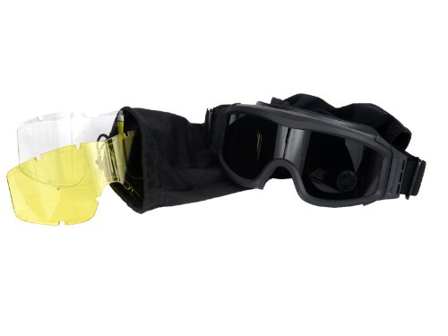 Lancer-Tactical-Airsoft-Safety-Goggles-Basic-with-Multi-Lens-Kit-Smoke-Clear-and-Yellow-Lens