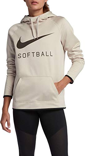 Nike Women's Softball Pullover Hoodie(Oatmeal Heather,Small)