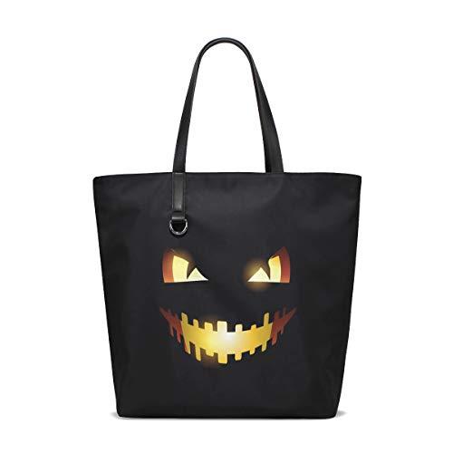 FAJRO Pumpkin Expression Shoulder HandBag Tote Bag ()