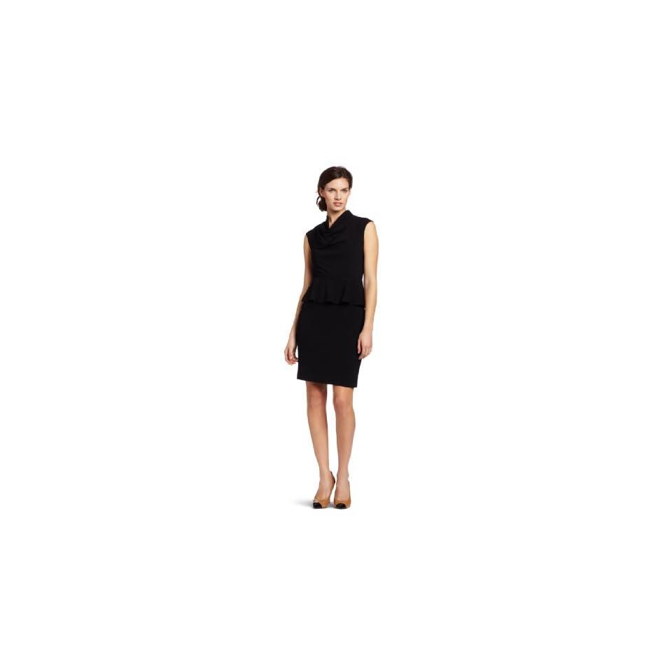Calvin Klein Womens Peplum Sleeveless Dress