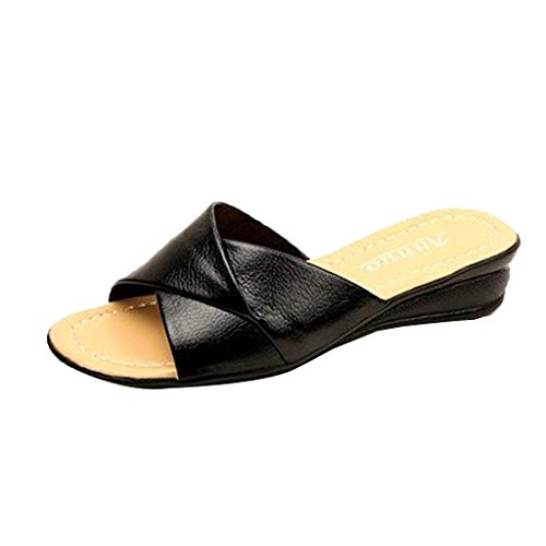 - Whitegeese Womens Summer Slides Grils Flip Flop Soft Flat Slip On Slide Sandals