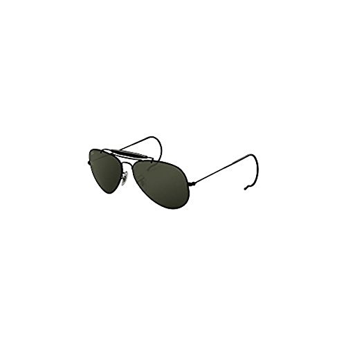 Ray-Ban Outdoorsman RB3030 Sunglasses Black / Crystal Green 58mm & Cleaning Kit - Black Outdoorsman Ban Ray
