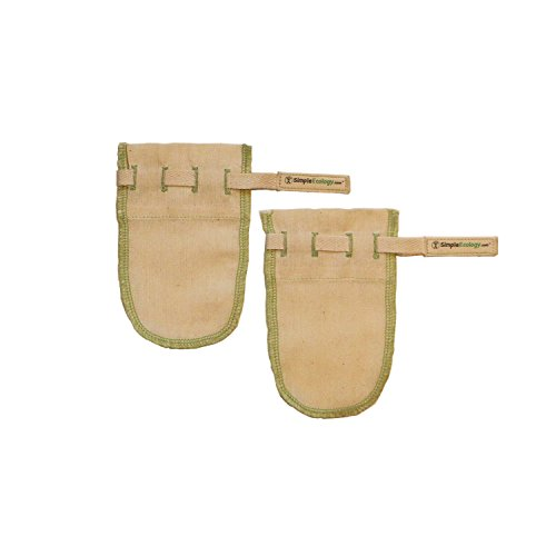 Simple Ecology Worlds Best Reusable Organic Cotton Muslin Fine Mesh Straining Bags - Tea Filter Set of 2 (XS) (loose leaf tea infuser, tea strainer)