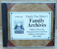 Military Records: Massachusetts Civil War Soldiers and Sailors, 1861-1865 CD#134
