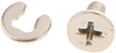 P Prettyia バッテリー背面カバーネジマウントパーツ修理セキュアボルトニンテンドーNEW3DS / NEW3DSLL / 3DS / 3DSLLゲームコンソール用