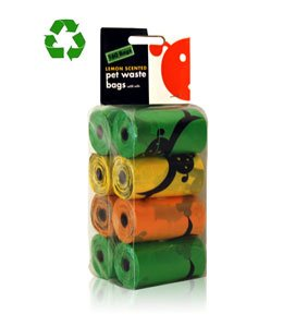 nal 8-Inch by 13-Inch Waste Pick Up Bags, 8 Refill Rolls, Lemon Scented, 160 Count ()
