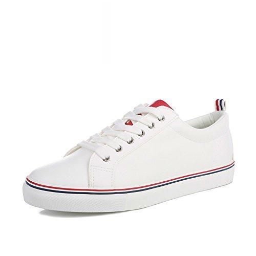 Primavera Respirable Joker Amante Blanco Zapatos Ocasionales,Pato Del Mandarín Coreano Zapatos,Deportes De Viento De Lengüeta College C