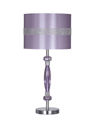 Signature Design by Ashley L801524 Table Lamp with Drum Shade, Purple/Silver