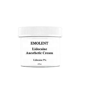 EMOLENT, 5% Lidocaine Pain Relief Cream, 4 fl oz