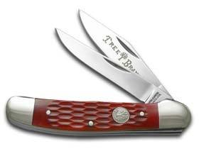Boker Knives 110746 Copperhead Jigged Pocket Knife, Red