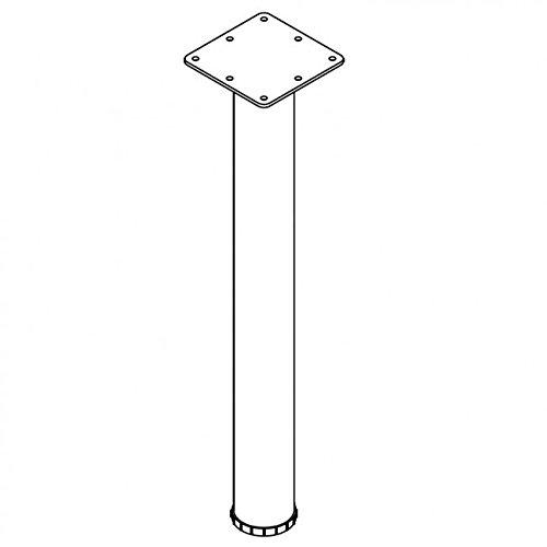 28'' Tall Desk Height Legs 3'' Diameter - Set of Four - Brushed Steel