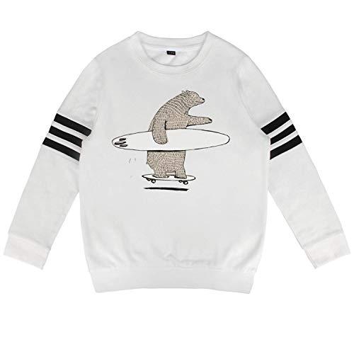 Children Bear go Surfing Sweatshirt Cotton Long Sleeve Costumes for Boys Girls ()