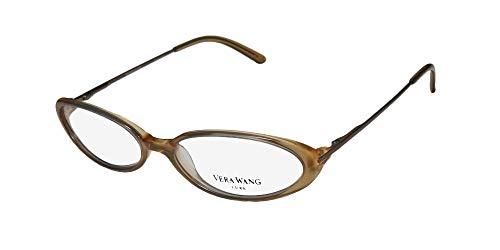 (Vera Wang Curve Womens/Ladies Prescription Ready Glamorous Designer Full-rim Spring Hinges Eyeglasses/Eyeglass Frame (52-16-125, Nude /)