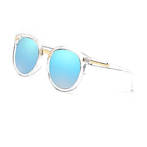 de Mercury blue Versión Gafas The Mujer Sol HLMMM Lifting Glare Coreana Color para Decoration Frame frame Black ice Face polarizadas Gafas UVB Transparent Sol Anti UV UVA Moolo de C0wxSq6ff