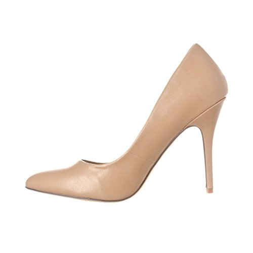 Riverberry Closed Pump Pu Stiletto Pointed Heels Toe Women's Taupe Gaby tAqYwtr