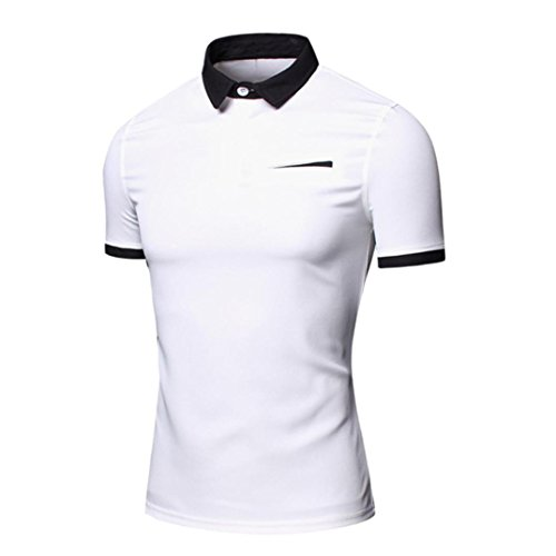 PHOTNO Polo Shirt Men Summer Casual