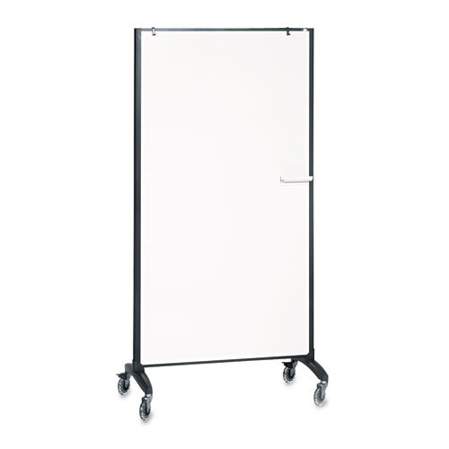 Quartet - Motion Marker & Bulletin Room Divider, 36w x 72h, Graphite - Sold As 1 Each - Multifunctional as a rolling room divider for privacy, a whiteboard for writing and a bulletin board for posting. by Quartet