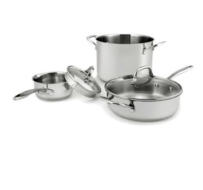 Amazoncom Wolfgang Puck Stainless Steel Cookware Set 18 Pc Oven