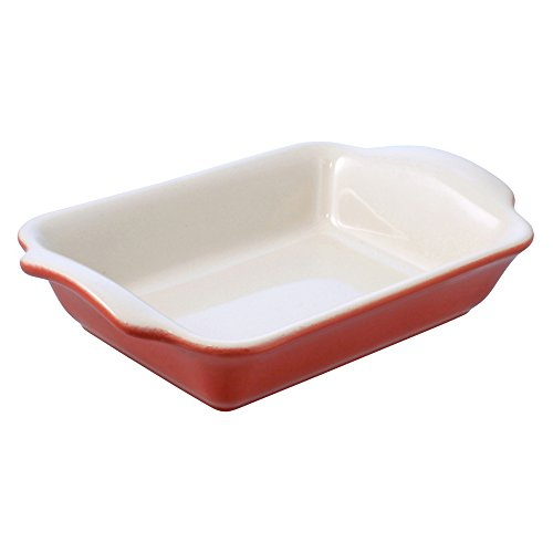 Swissmar Le Cordon Bleu Tendance Medium Rectangular Roasting Dish, 2.85 Quart, Rouge Red